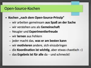 Was ist Open-Source-Kochen?