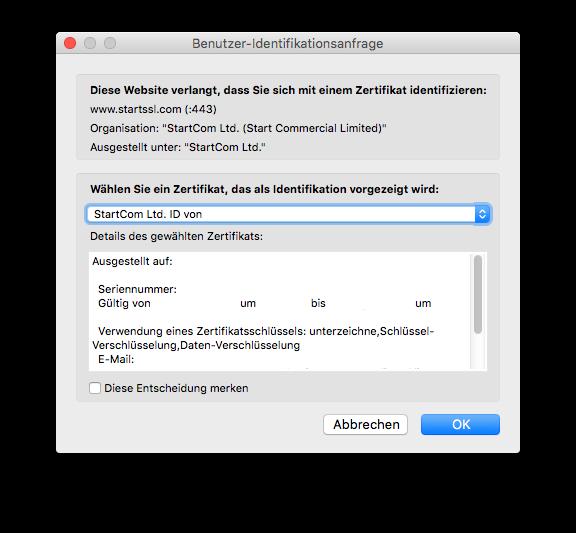 Creating SSL certificates with StartSSL - Florian Effenberger