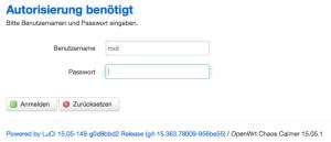 Die Weboberfläche von OpenWRT