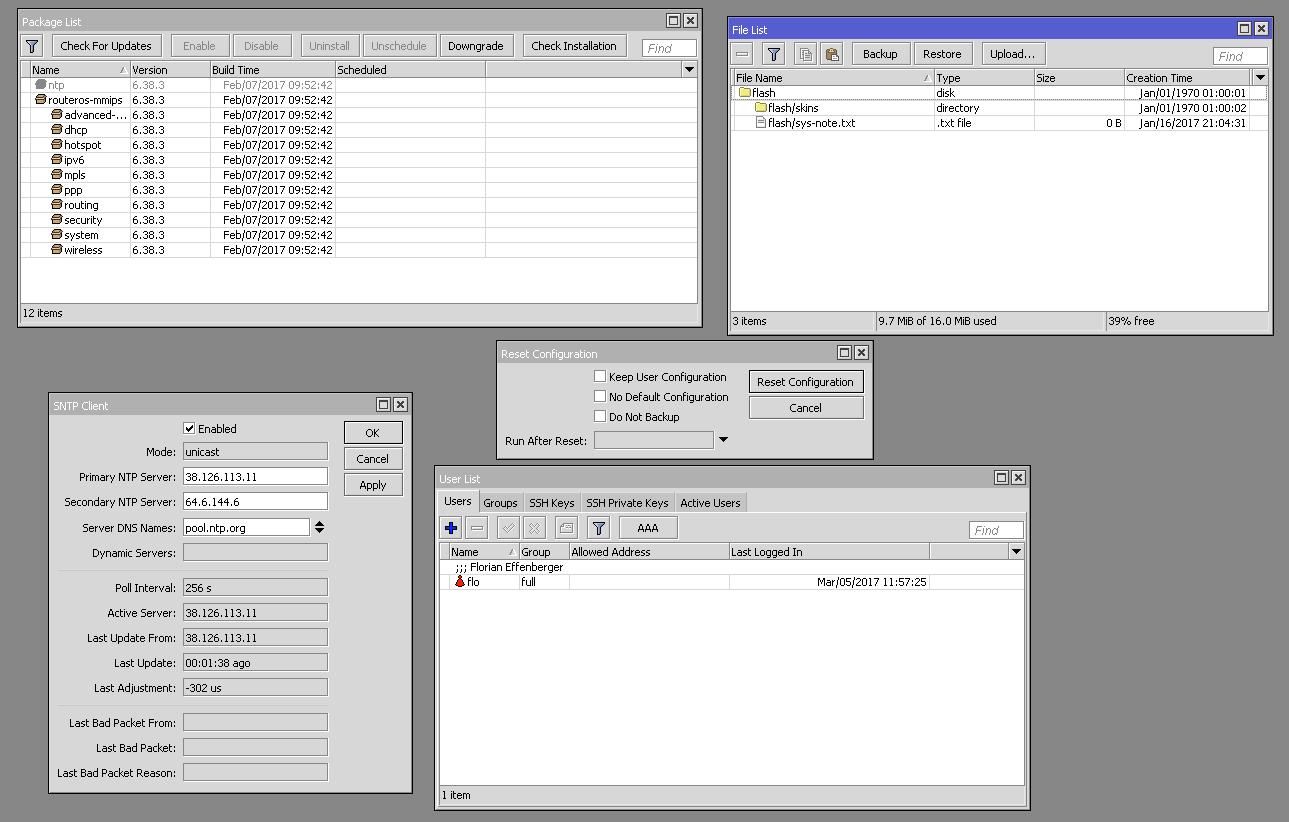 Meine ersten Schritte mit MikroTik RouterOS (Teil 1