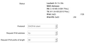 Ein großes IPv6-Präfix unter LEDE
