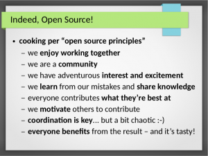 Cooking and Open Source have many things in common