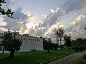 A beautiful sunset in Tirana