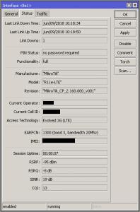 Die Firmware-Version des LTE-Modems lässt sich bequem via WinBox abfragen
